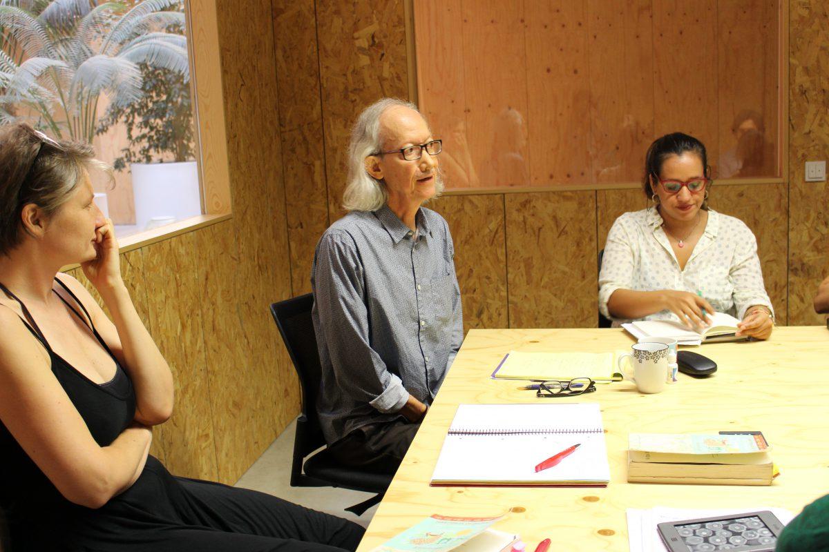 Workshop with Arturo Escobar in ICTA. Photo credit: Isabel Lopera.