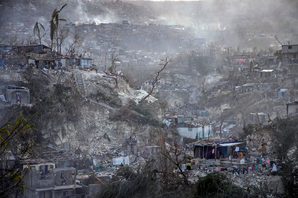 Destroyed houses in Corail. © REUTERS/Carlos Garcia Rawlins. Source: New Internationalist Magazine
